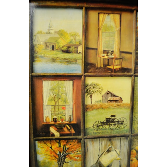 Home Interior Products: Vintage Home Interior 12 Panel Rustic Window Pane Picture