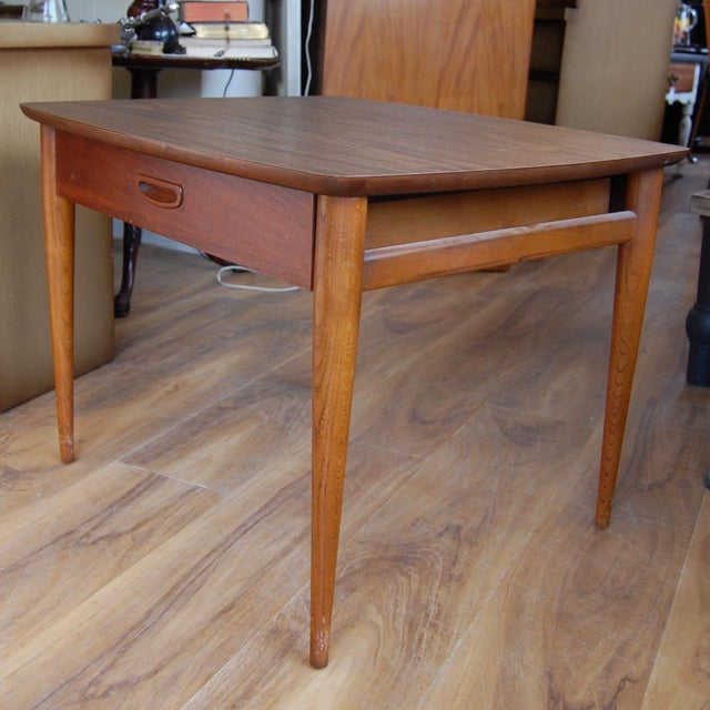 1950s Mid Century End Table By Lane Furniture: Lane Furniture Mid-Century Modern Wood End Table