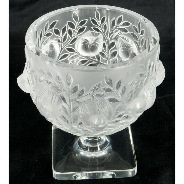 Lalique France Elizabeth Pedestal Footed Bowl For Sale - Image 4 of 8