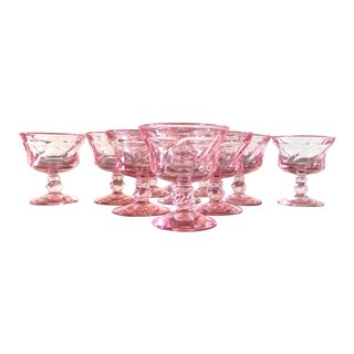 Pink Fostoria Sherbert Glasses - Set of 12 For Sale