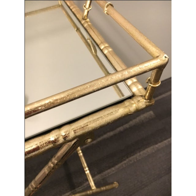 Gold Folding Side Table - Image 4 of 5
