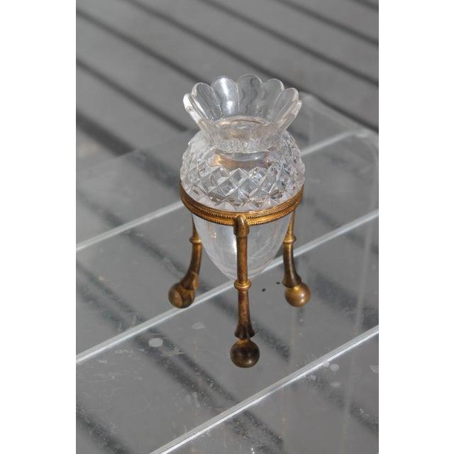 F. & C. Osler 19th Century Famed Glass House F. & C. Osler Gilt Bronze Cut Crystal Epergne For Sale - Image 4 of 11