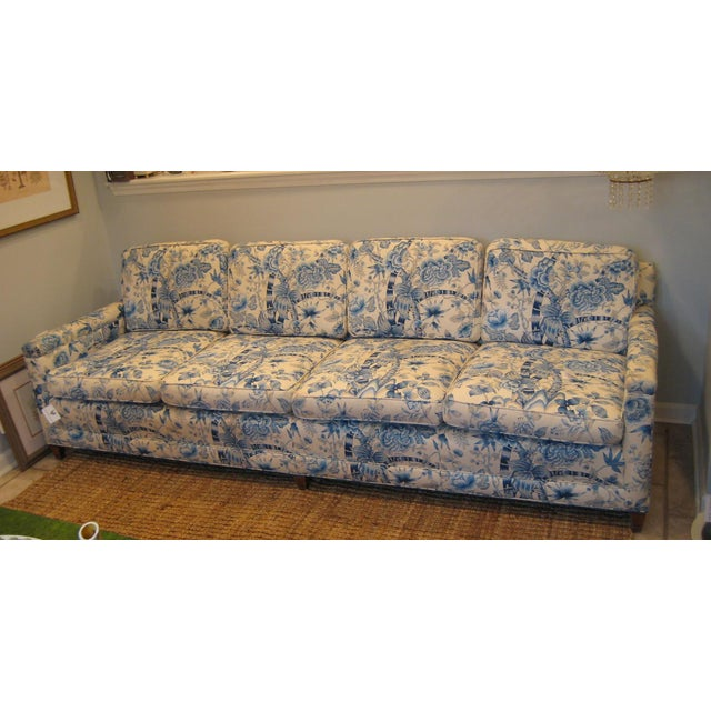 Traditional Handcrafted Custom Vintage Sofa For Sale - Image 3 of 3
