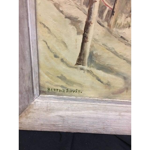 Bertha Davis Oil on Board - Image 6 of 6