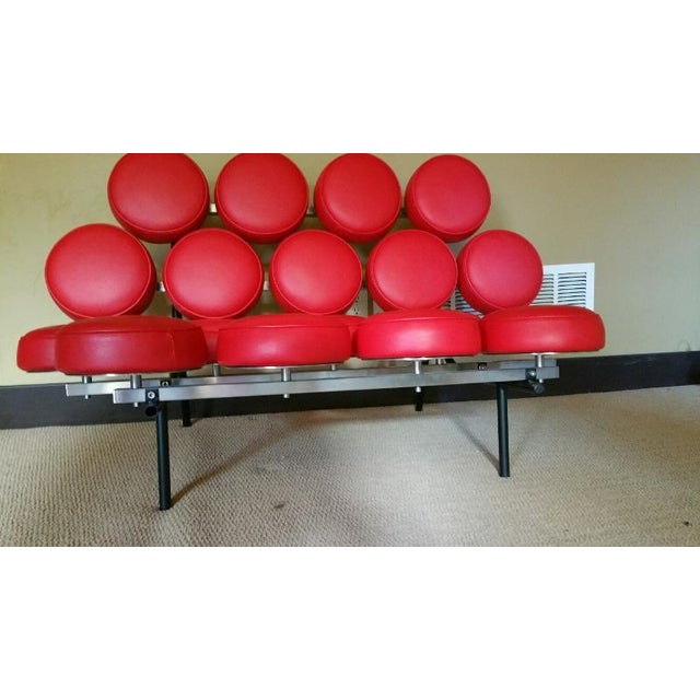 France & Son Red Marshmallow Sofa - Image 5 of 5