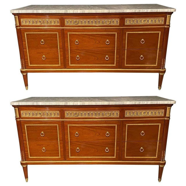 Pair of Monumental French Commodes in the Manner of Maison Jansen For Sale - Image 13 of 13