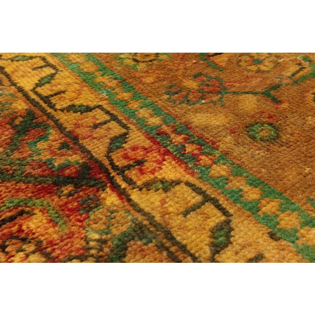 """Vintage Persian Overdyed Rug - 9'9"""" x 12'9"""" - Image 2 of 3"""
