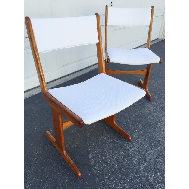 Mid-Century Danish T-Base Chairs - A Pair - Image 6 of 7