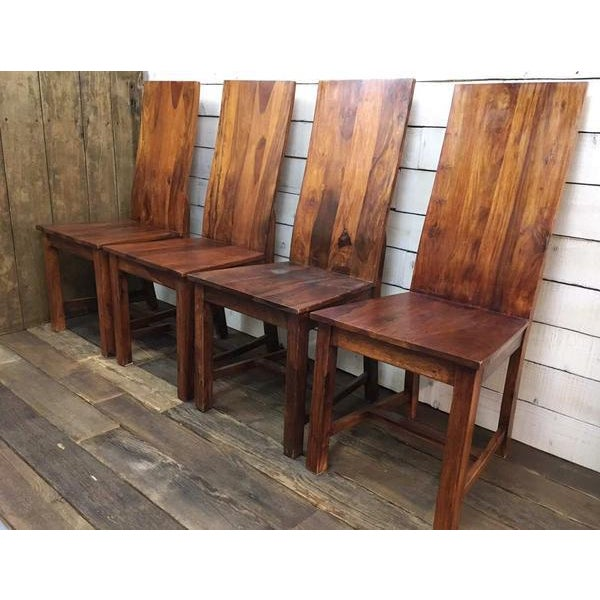 Vintage Wooden Dining Chairs - Set of 4 - Image 2 of 4