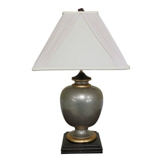 Modern Design Table Lamp With Pleated Shade For Sale