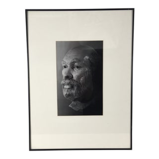 1980s Vintage Black and White Framed Photograph For Sale