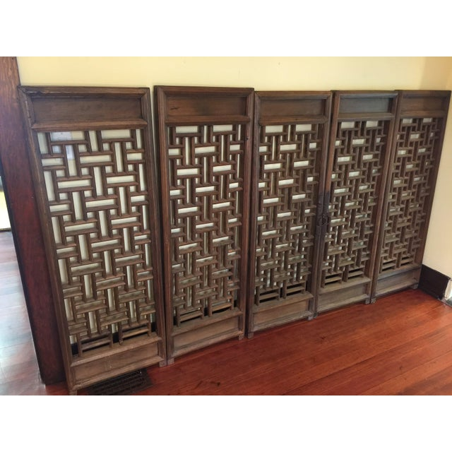 Vintage Wood Door Panels - Set of 5 - Image 4 of 9