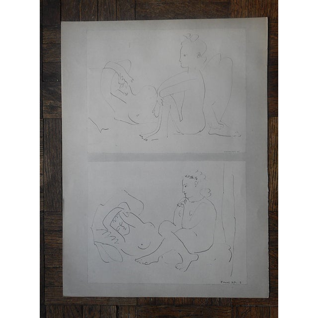 Mid-Century Modern Vintage Abstract Mid-Century Picasso Lithograph-From Verve Art Journal For Sale - Image 3 of 4