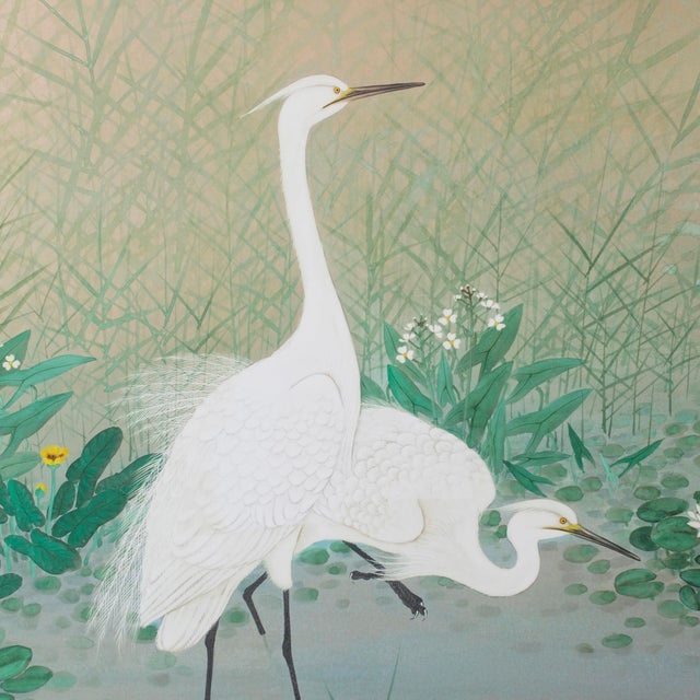 "Everything about ""Egrets Amongst Lotuses"" is timeless and delicate, particularly the fine paper, soft colors, and detailed..."