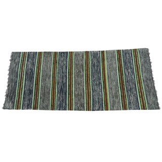 Swedish Hand-Woven Rag Rug - 2′6″ × 5′11″ For Sale