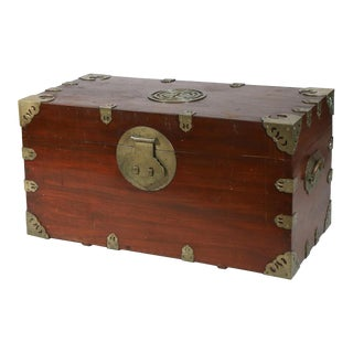 Chinese Export Large Camphor Wood Sailor's Large Sea Chest For Sale