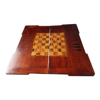 Hand Made Antique Inlay Game Table For Sale