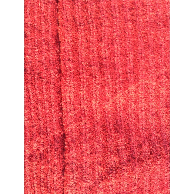 """Red Hand-Tufted Rug - 4'8"""" x 6'8"""" - Image 8 of 8"""