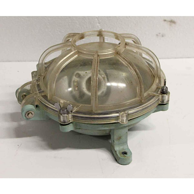 Reclaimed Lucite Green & Clear Nautical Sconce For Sale - Image 4 of 6