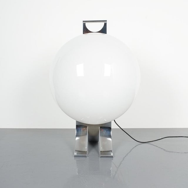 Chrome Rare Tetrarch Design Studio Table Light Chrome Lucite for Valenti, Circa 1970 For Sale - Image 7 of 12