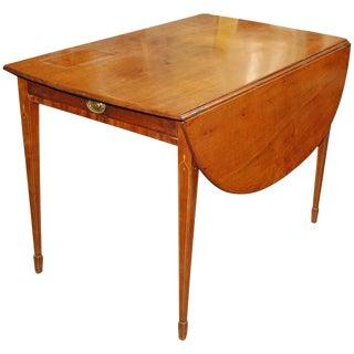 1820 English Mahogany Empire Style Pembroke Table For Sale