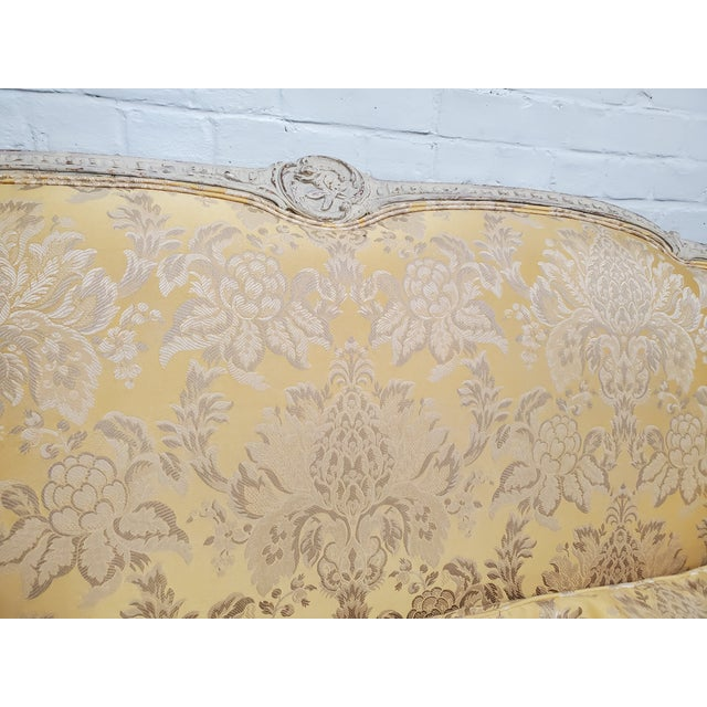 1930s Antique Victorian French Louis XV Style Couch For Sale - Image 4 of 13