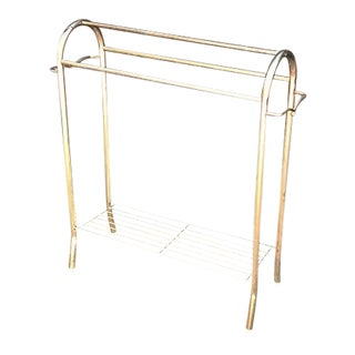 1960s-70s Brass Towel Bar or Quilt Rack For Sale