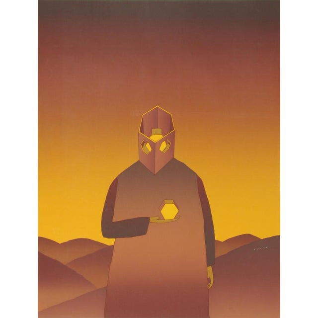 Traditional The Thinker, Serigraph by Jean-Michel Folon For Sale - Image 3 of 3