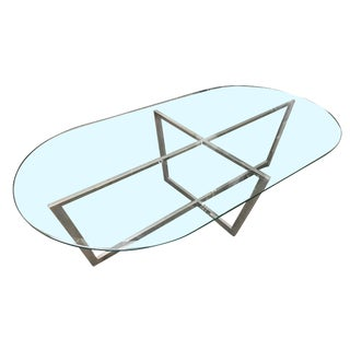 Mid-Century Danish Chrome Coffee Table For Sale