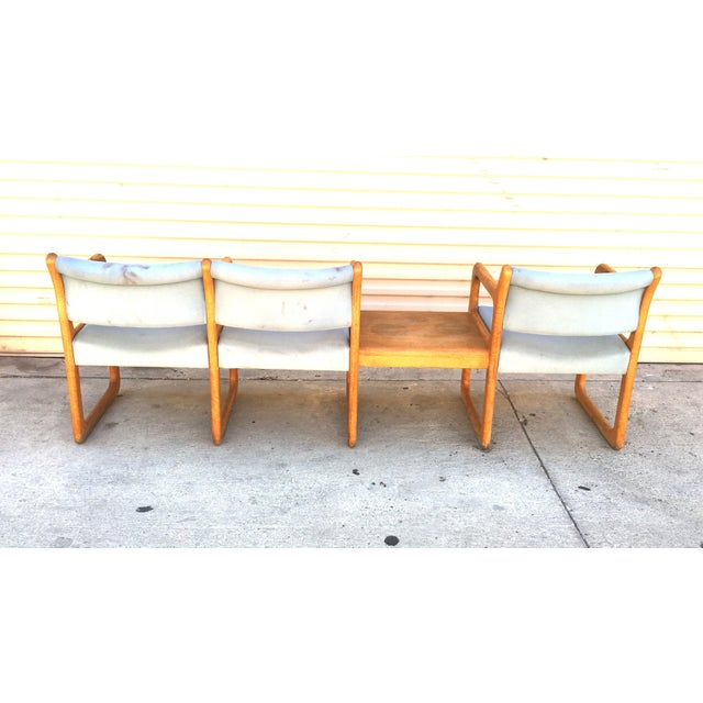 Danish Modern Wooden Reception Banquette - Image 8 of 8