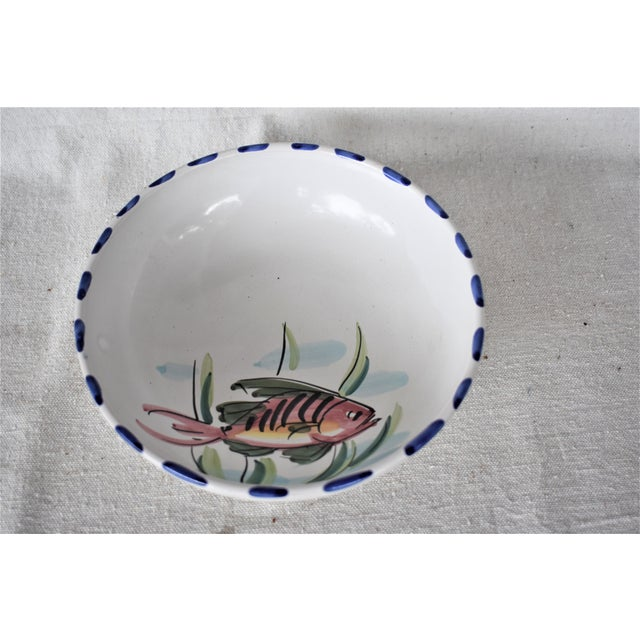 Mediterranean Vietri Fish Decorated Bowl For Sale - Image 3 of 8