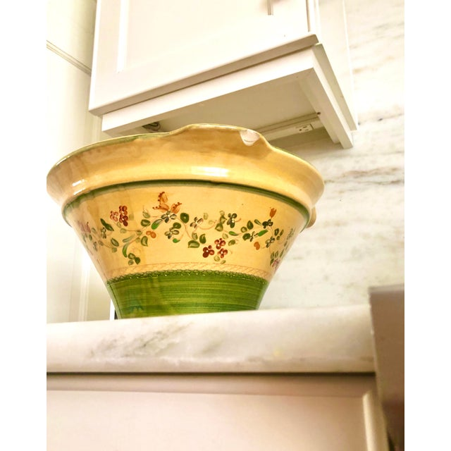 Ceramic Large Hand Painted Italian Pasta Bowl For Sale - Image 7 of 9