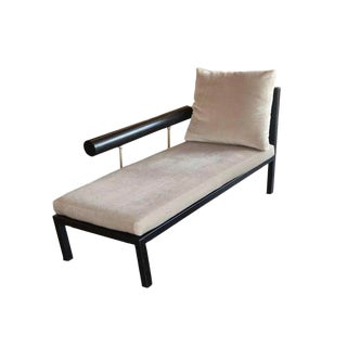 Antonio Citterio for B&b Italia Chaises in Leather and Mohair, One Available For Sale