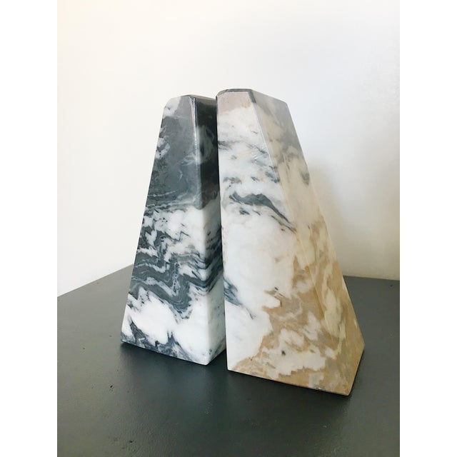 Vintage Marble Bookends - a Pair For Sale - Image 4 of 5