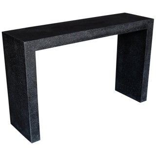 Cast Resin 'Lynne Tell' Console Table with Coal Stone Finish by Zachary A. Design For Sale