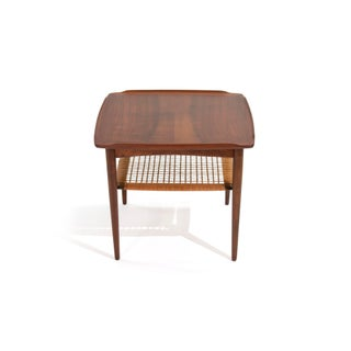 Vintage Danish Modern Poul Jensen for Selig Walnut Two Tiered Side Table Preview