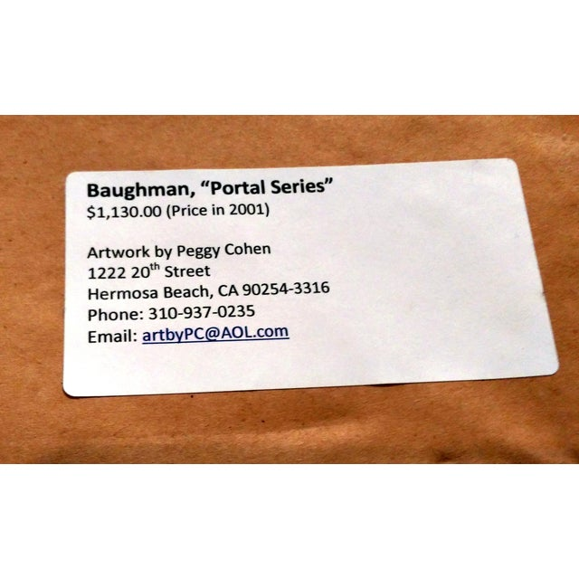 "John Baughman ""Portal Series 1-23"" Mixed Media Art - Image 9 of 9"