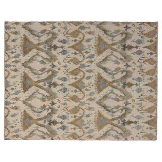 "Modern Transitional Ikat Rug - 8'1"" X 10'4"" For Sale"