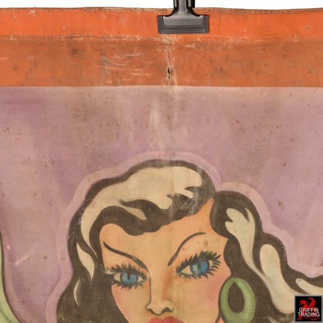 1940s Burlesque Performer Sideshow Banner For Sale - Image 5 of 13