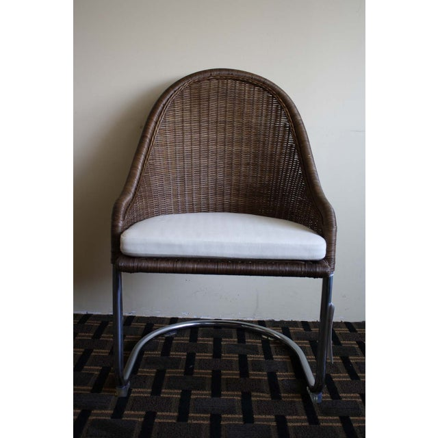 Contemporary McGuire Cantilever Chair Coco Finish For Sale - Image 3 of 6
