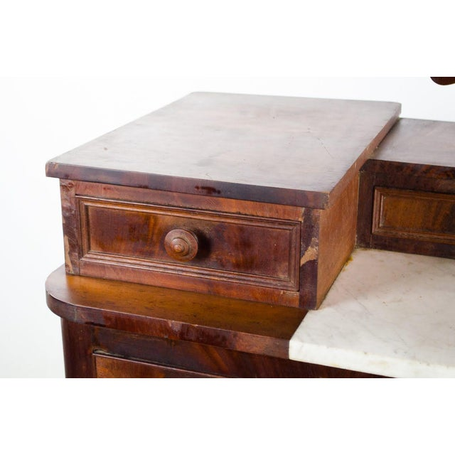 Metal 19th Century Victorian Drop Well Marble Top Dresser For Sale - Image 7 of 13