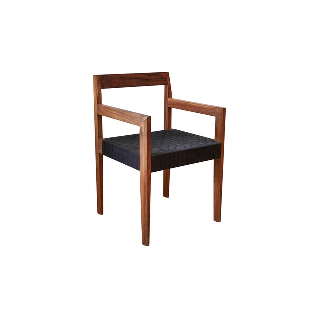 Not Yet Made - Made To Order Modern Casey McCafferty Faceted Dining Armchair For Sale - Image 5 of 5