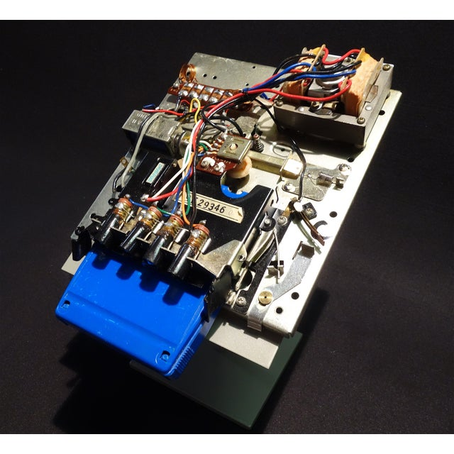 Black Vintage 8 Track Tape Player Mechanism Component Sculpture Circa Mid 20th Century For Sale - Image 8 of 8