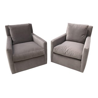 Modern Lee Industries Swivel Chairs- A Pair For Sale