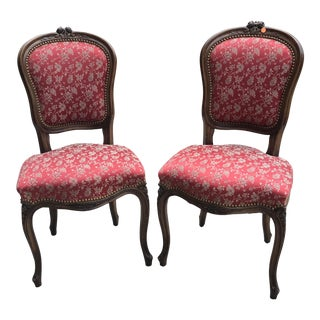 Vintage Red Chairs - a Pair