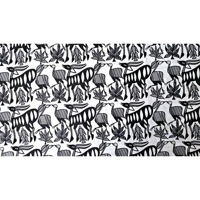 Black & White African Print Fabric - 1 Yard - Image 2 of 6