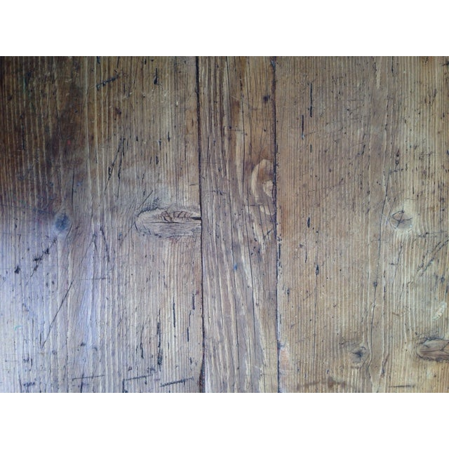 French Antique Pine Coffee Table - Image 5 of 5