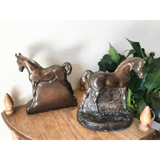 Antique Bronze Horse Bookends - a Pair Preview