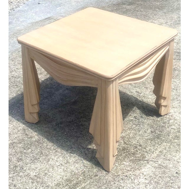 Vintage Regency Swag Draped Side Table For Sale In West Palm - Image 6 of 9