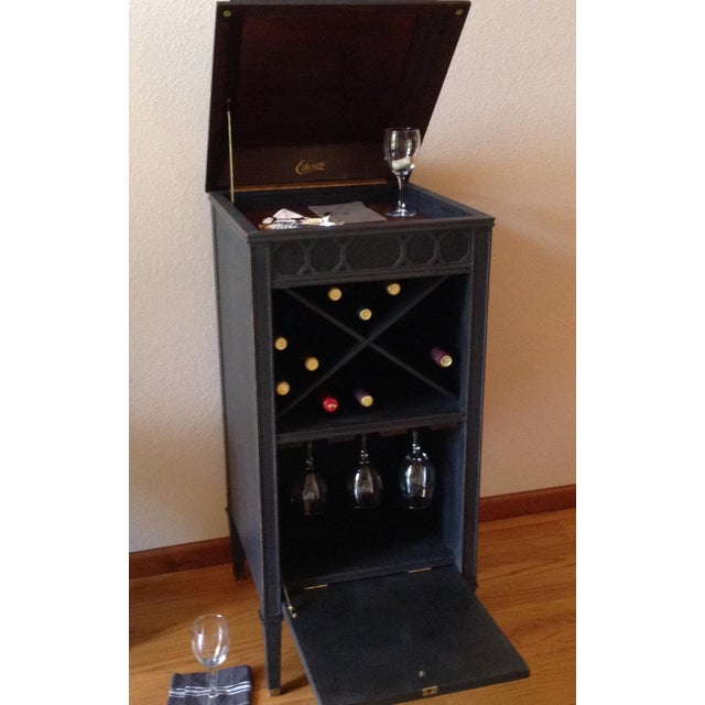 Black Antique Edison Phonograph Dry Bar For Sale - Image 8 of 13